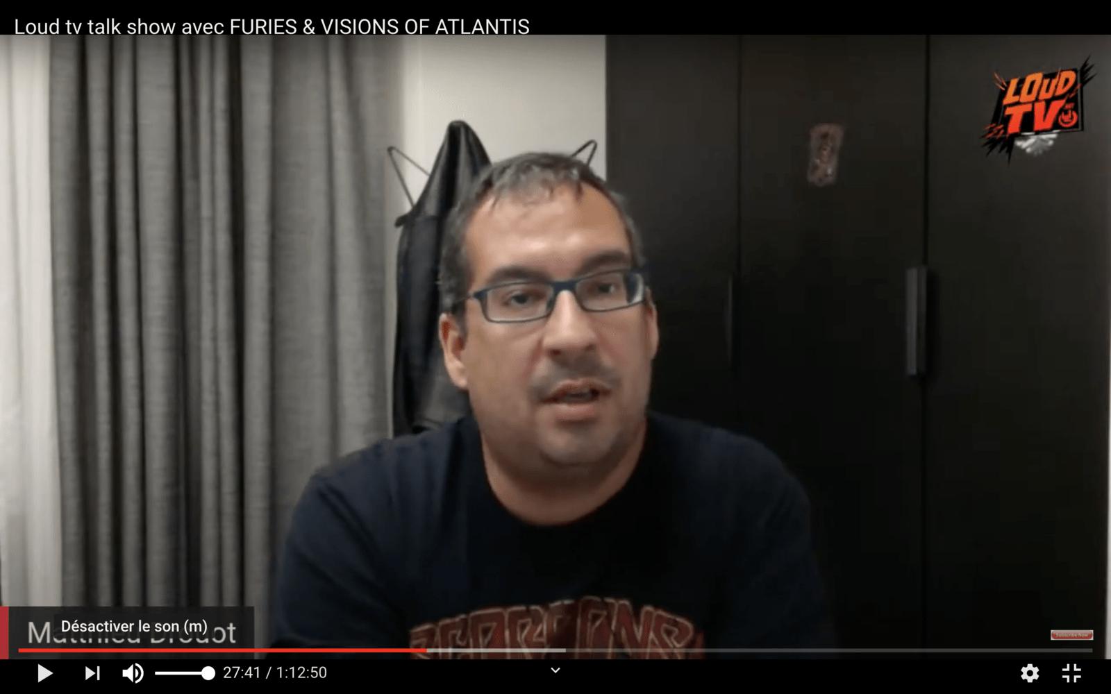Interview exclusive de Matthieu DROUOT. Très pessimiste quant aux concerts avant Juin 2021.