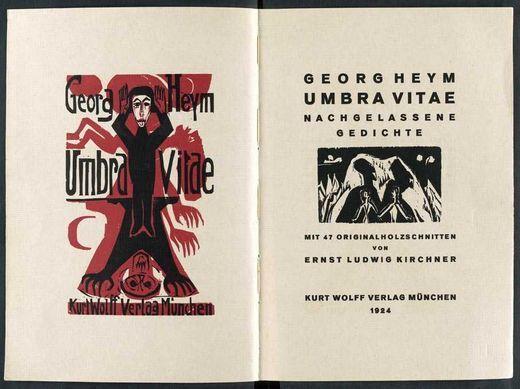 """Georg Heym, """"Umbra Vitae"""", 1912 (1ère publication et année du décès de l'auteur)"""