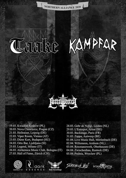 KAMPFAR en tournée européenne avec TAAKE