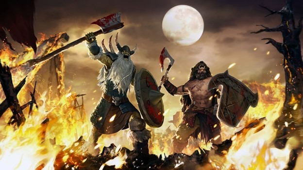 Jeu legacy of the beast avec une invasion de vikings