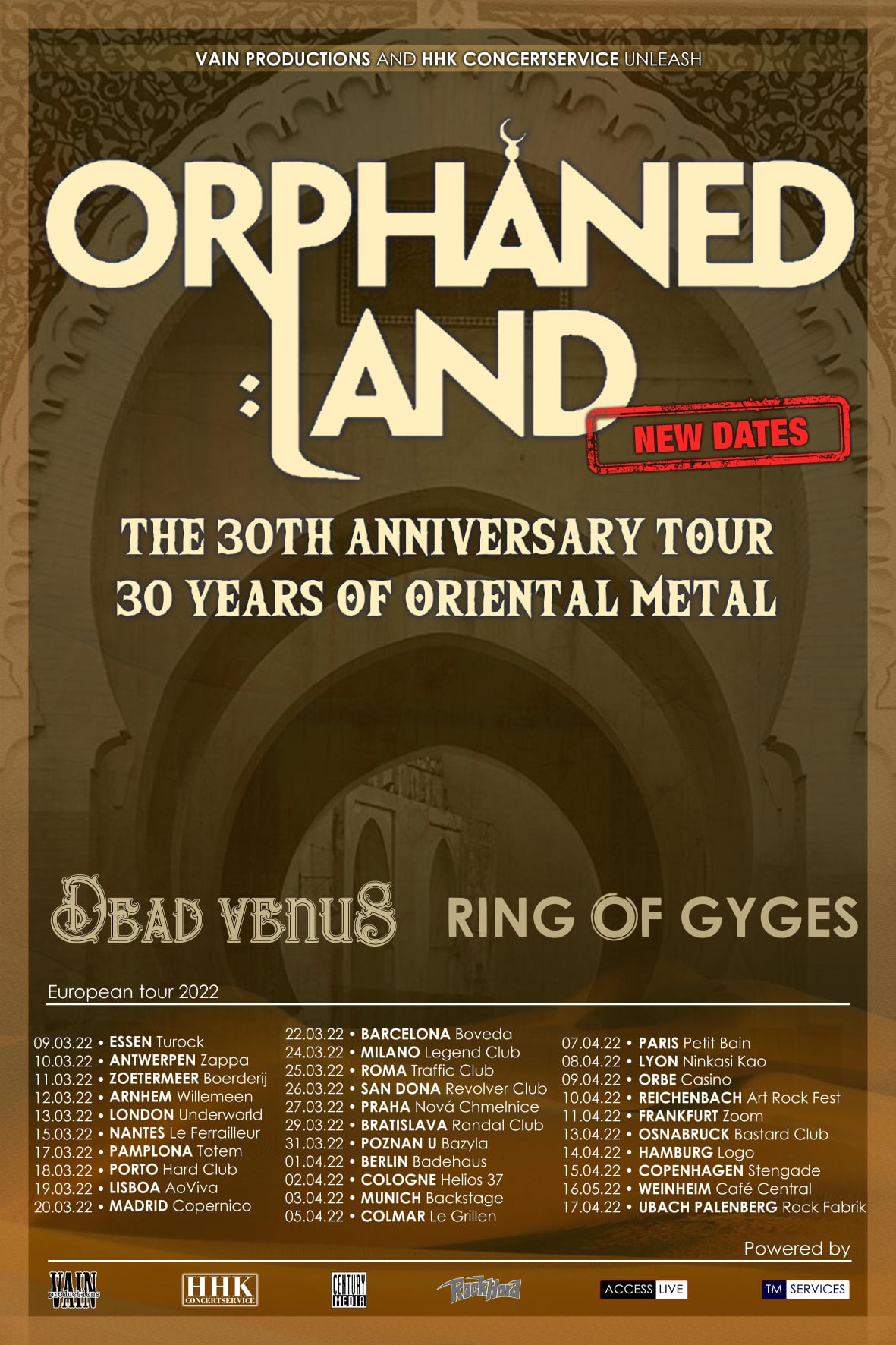 orphaned land 2022 tour